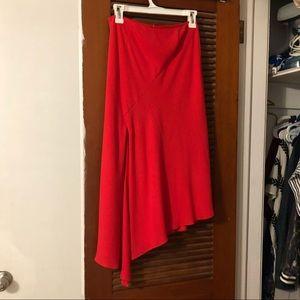NICHOLAS asymetrical red skirt